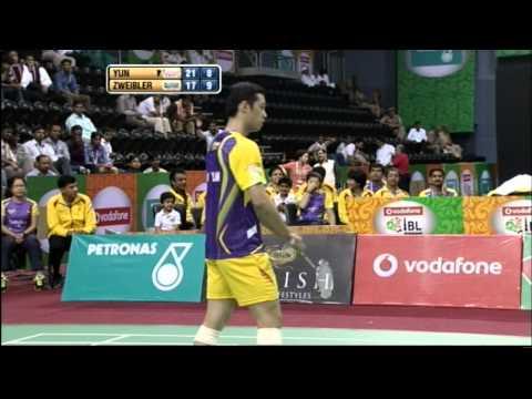 Hu Yun Vs Marc Zweibler | Men's Singles | Banga Beats vs Mumbai Masters 2013
