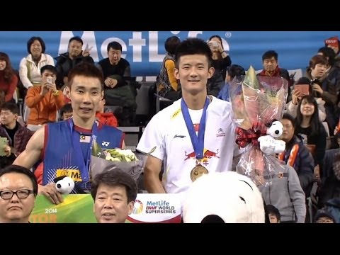 2014 Victor Korea Open World Superseries MS Final Lee Chong Wei vs Chen Long >150.000