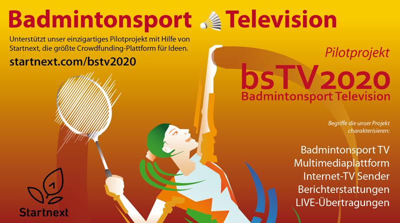 Alles oder nichts! für Badmintonsport Television Crowdfunding.