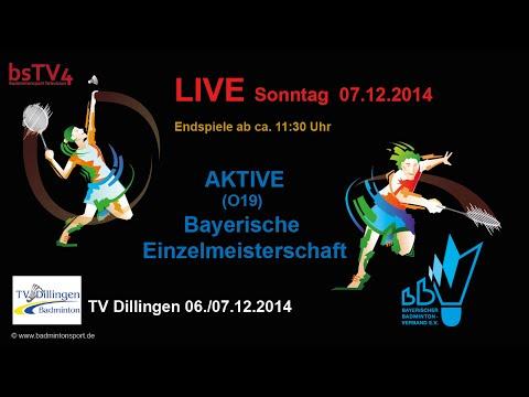 Aufzeichnung: LIVE Bayerische Einzelmeisterschaften AKTIVE 2014
