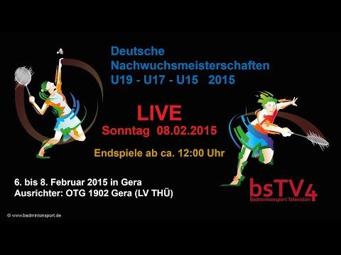 Aufzeichnung LIVE – DM 2015 (U19-U17-U15)