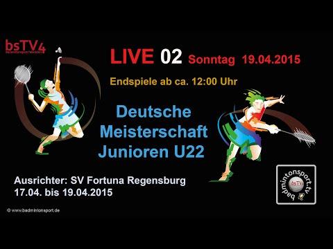 Aufzeichnung – LIVE 02 DM der Junioren U22 – 2015