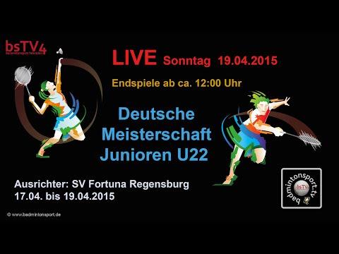 Aufzeichnung (Test) – Liveübertragung DM der Junioren U22 – 2015