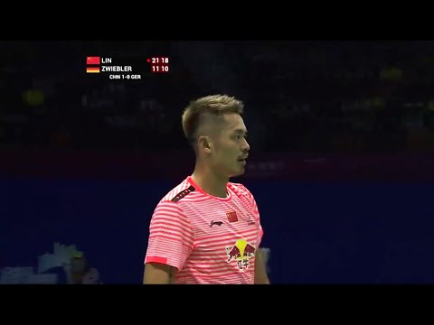 Sudirman Cup 2015 Group 1A – Lin Dan [CHINA] vs [GERMANY] Marc Zwiebler