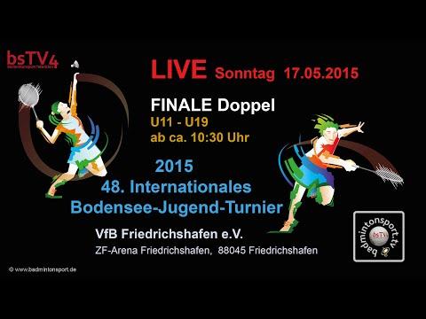 AUFZEICHNUNG – FINALE Doppel – Int. Bodensee-Jugend-Turnier 2015 – Sonntag, 17.05.2015 ab ca. 10:30