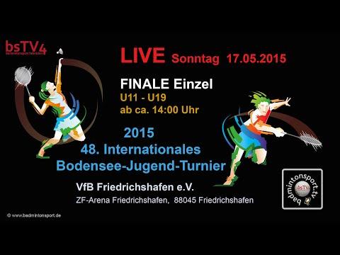 AUFZEICHNUNG – FINALE Einzel – Int. Bodensee-Jugend-Turnier 2015 – Sonntag, 17.05.2015 ab ca. 14:00