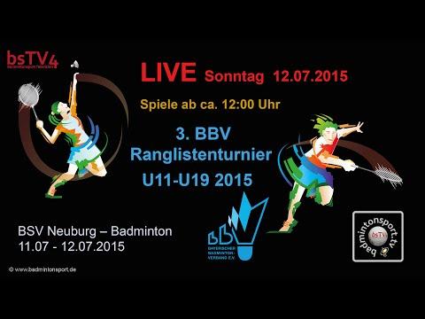 LIVE – 3. BBV Ranglistenturnier U11-U19 (HD 720 Stream-Test)