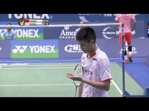 Yonex Open Chinese Taipei 2015 | Badminton F M5-MS | Chen Long vs Chou Tien Chen