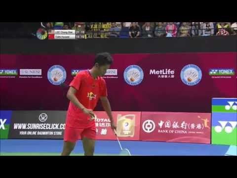 Yonex Sunrise Hong Kong Open 2015 | Badminton F M3-MS | Lee Chong Wei vs Tian Houwei