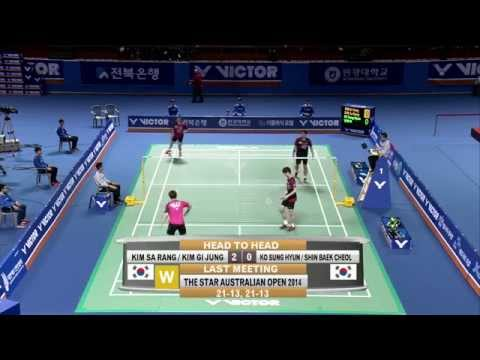 Jeonju Victor Korea Masters 2015   Badminton F M1-MD   Kim/Kim vs Ko/Shin