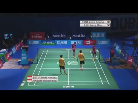 Dubai World Superseries Finals 2015 | Badminton Day 2 M2-MD Grp A | Lee/Yoo vs Ahs/Set