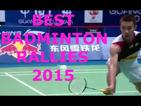 BEST BADMINTON RALLIES 2015 IN SIMPLE( Dives, trick shots, impossible shots, …)