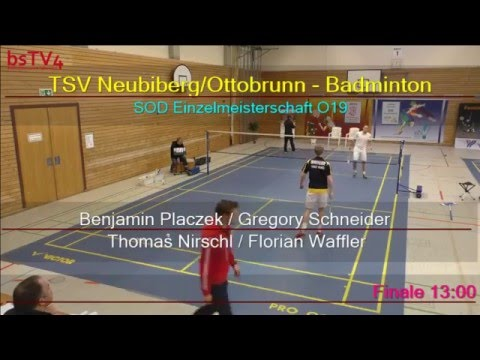 Aufzeichnung: SOD Einzelmeisterschaft O19 (Aktive) 10.01.2016 – (Feld01)