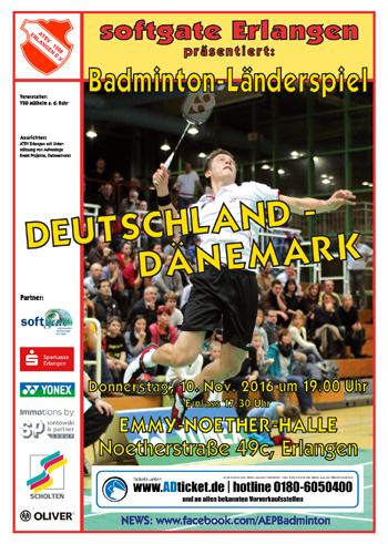 Länderspiel GER vs DEN – 10.11.2016 – 19.00 Uhr