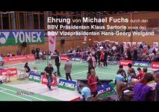 Ehrung von Michael Fuchs – LSP GER vs DEN 2016