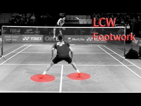Lee Chong Wei – Super FOOTWORK step by step breakdown in Slow Motion