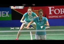 Yonex German Open 2017 | Badminton SF M4-WD | Her/Nel vs Fuk/Hir
