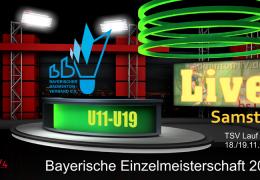 Aufzeichnung: Bayerische Einzelmeisterschaft U11-U19 2017 (Samstag)