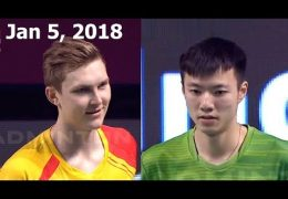 Viktor AXELSEN vs WANG Tzu Wei Badminton 2018 Premier League