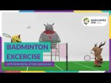 Badminton Excercise with Bhin Bhin, Atung & Kaka (18.08. – 02.09.2018)
