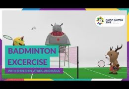 Badminton Excercise with Bhin Bhin, Atung & Kaka