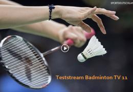 Teststream Badminton TV 11 – Sportdeutschland TV
