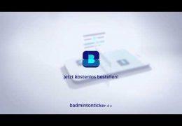 Badmintonticker [mit App LIVE:AIR Solo]
