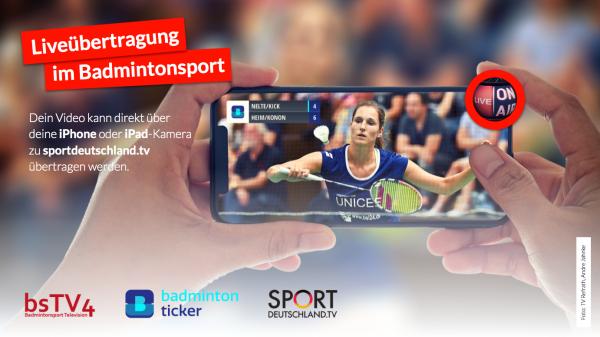 Live On Air [Badmintonsport TV - Badmintonticker - Sportdeutschland TV]