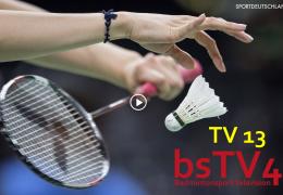 Teststream Badminton TV 13 – Sportdeutschland TV