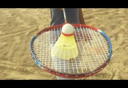 Badminton players are playing a beautiful game in the Corona vacations
