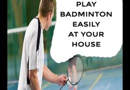 How to play badminton in simple and inexpensive way? | Badminton at Home