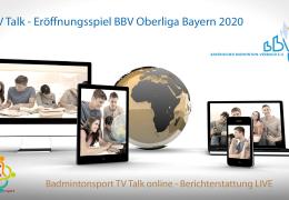 [Anmelden/Registrieren] TV Talk Videokonferenz (VC) – Eröffnungsspiel BBV Oberliga Bayern 2020