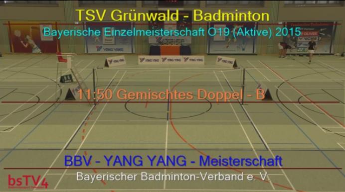 Live-Aufzeichnung: Bayerische Einzelmeisterschaften Aktive 2015/2016 – 5.12.2015!