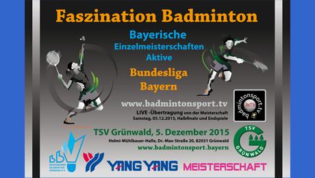 Bayerische Einzelmeisterschaft Aktive 2015/2016 – 5.12.2015!