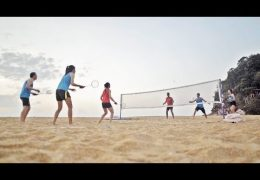 How to set up an AirBadminton Court?