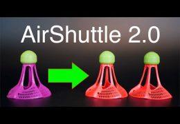 Airshuttle 2.0: Airbadminton Outdoor Badminton Shuttlecock Update