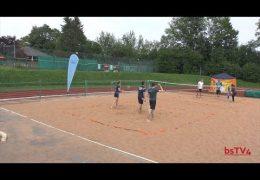 Mixed-Triple im Sand (AirBadminton-Wettkampf im Freizeitsport)