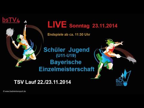 Aufzeichnung: LIVE Bayerische Einzelmeisterschaft U11-U19 2014