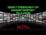 2euro4badminton.de – Deine Förderung für BADMINTONSPORT TELEVISION