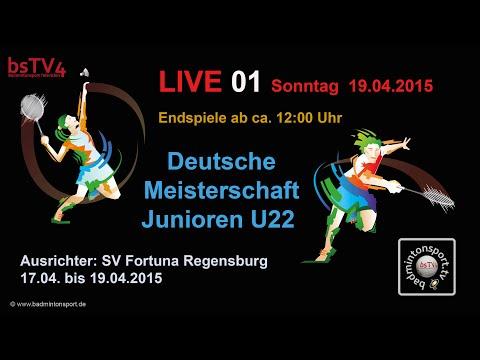 Aufzeichnung – LIVE 01 DM der Junioren U22 – 2015