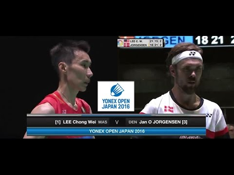 2016 Yonex Open Japan Final [MS] LEE Chong Wei vs Jan O JORGENSEN