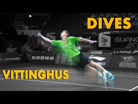 10 GRAVITY Defying Badminton DIVES from HANS Kristian Vittinghus