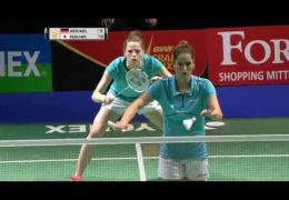 Yonex German Open 2017 | Badminton SF M4-WD | Herttrich/Nelte vs Fukushima/Hirota