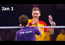 Viktor AXELSEN vs SON Wan Ho Badminton 2018 Premier League