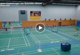 Badminton NRW – Update: Empfehlungen für den Wiedereinstieg in das vereinsbasierte Badminton-Sporttreiben