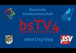 [Centercourt] Bayerischen Einzelmeisterschaft U13-U19 2020 [SportDTV]